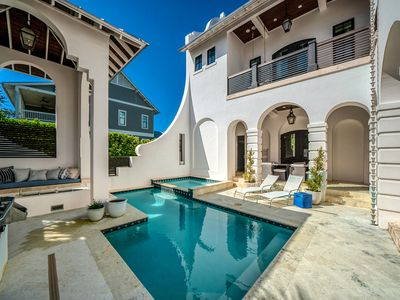 Photo for Luxurious 6 Bedroom Home with Private Pool, Theater Room, and Carriage House!