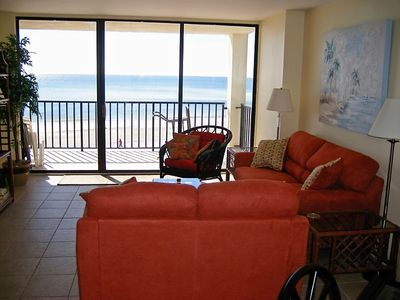 Photo for Gulf Shores Spacious Beach Front Condo with Amazing Views