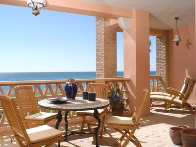 Photo for La Perla de la Bahia, luxurious 1st line beach apartment