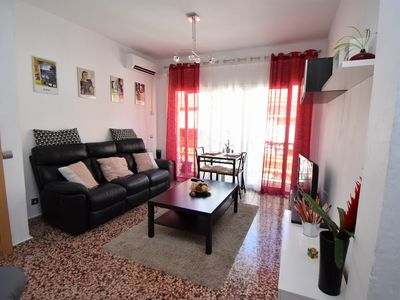 Photo for Los Boliches modern apartment with WiFi AC and a short walk to Fuengirola beach