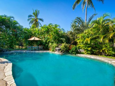 Photo for 5 star review gorgeous private pool/spa with ACs close to beaches for 18 PPL