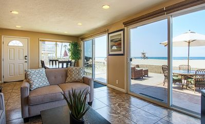 Photo for Amazing location with an amazing, newly-remodeled lower unit right on the sand!