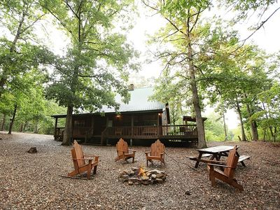 Photo for Secluded Mountain Cabin (3/2) - Hot Tub, Fire Pit, ATV, WiFi, Pet Friendly..more