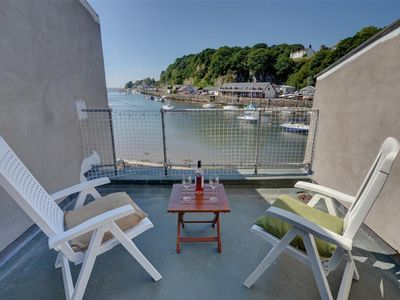 Photo for On the harbour at Porthmadog is 50 South Snowdon Wharf, a mid-terrace two storey property that has l