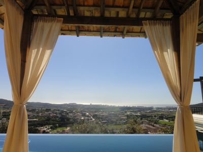 Photo for Luxurious Private Villa, heated infinity pool, Jacuzzi & Sauna with sea views