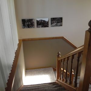 Entry Stairs Take You To Living Room/Kitchen/Second Bedroom on Lower Level