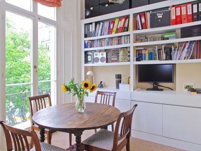 Photo for Quaint Balcony, French Doors on Tranquil St Notting Hill
