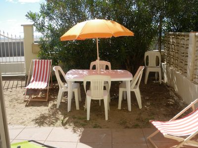 Photo for beachfront villa facing the beach of Hyeres islands of ayguade