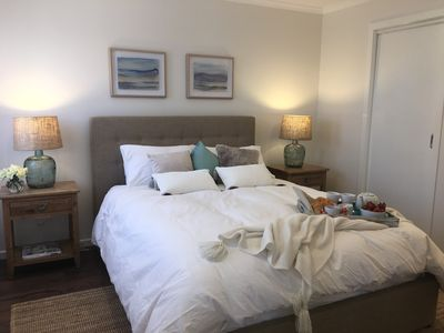 Relax in master suite with your own TV, walk-in robe & massive ensuite bathroom
