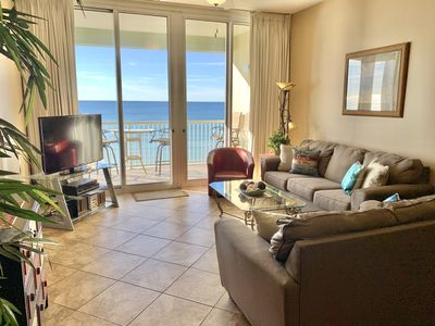 Photo for WOW! Stunning Waters Edge Penthouse 616! Direct BEACHFRONT!