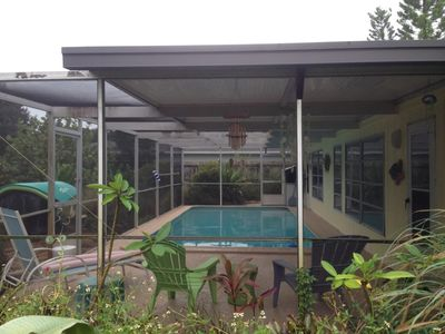 Photo for Charming Pet Friendly Pool Home Steps to the Beach, Restaurants, and Nightlife