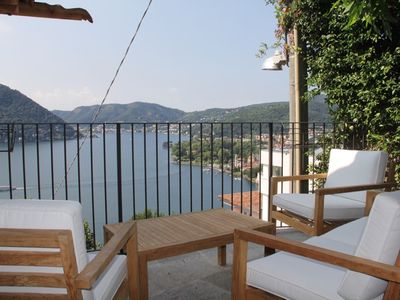 Photo for Toldino house 3 min. from the lake and town center- lake views from every angle!