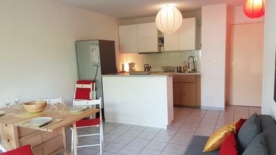 Photo for Apartment for 6 people in residence with swimming pool and tennis 2 km from Deauville