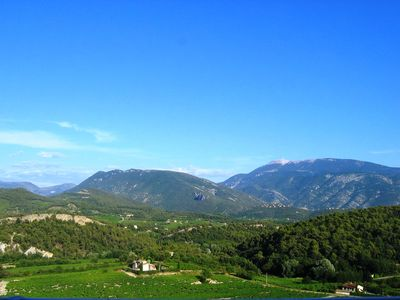 Photo for house with WIFI with its panoramic view of Mont Ventoux and Baronnies