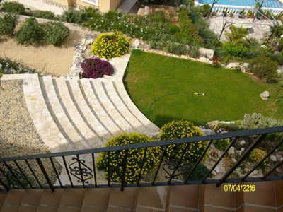 Garden view from top terrace, Spring 2010