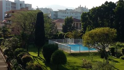 Photo for 2 room apartment at 160 m from the beaches in residence with pool and garage