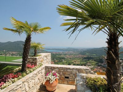 Photo for Luxury apartment in Villa with breathtaking view on the lake
