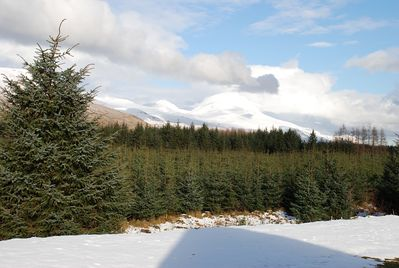 From cottage looking towards Ben Lawers.
