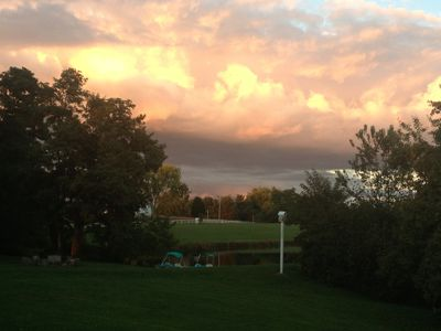 Gorgeous sunset from the back deck!