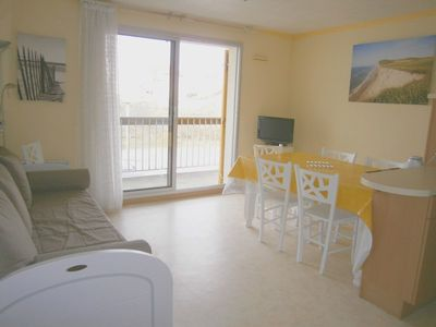 Photo for Near sea, apartment F2, 1st floor, 1 bedroom, balcony, parking, 4/6 people.