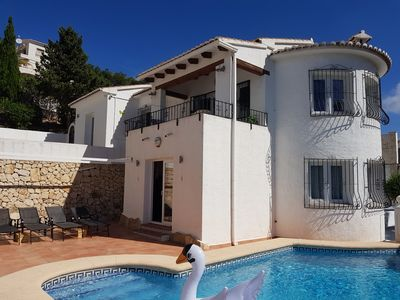 Photo for Newly refurbished 2 bed villa with beautiful sea views and private pool