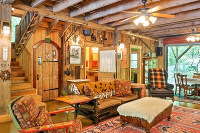 You'll fall in love with the charm of the cabin the moment you step inside.