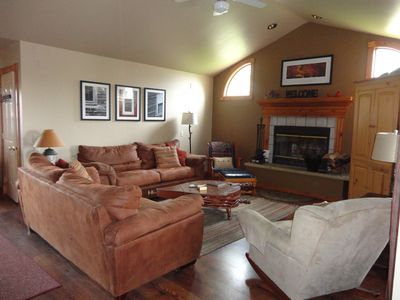 Warm and inviting living area