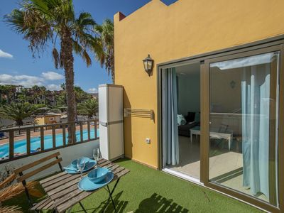 Photo for Oasis Royal 11 Corralejo pool view apartment by Lightbooking