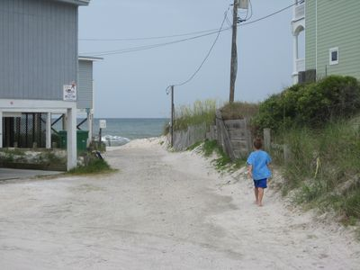 Just a few steps to the beach.