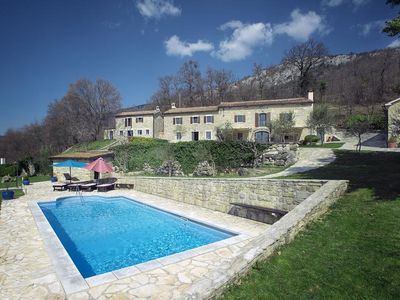 Photo for Large villa with private pool, air conditioning, WiFi, terrace, BBQ and a great view of the countryside