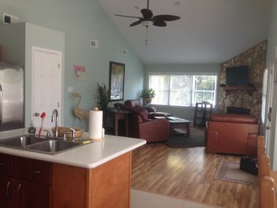 Photo for Fishing from dock!  3-4 Bdrm House on CREEK SLEEPS up to 12