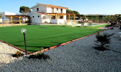 Photo for New 5 Bedroom Villa Set In One Acre Garden, Tennis, Heated Pool And Sea Views