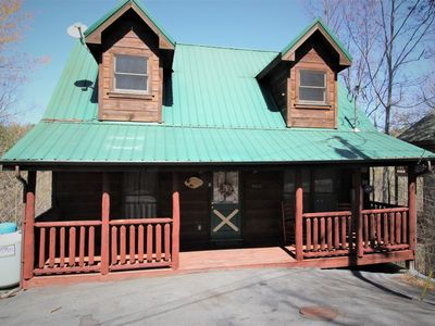 Photo for Hillside Cabin, Located Between Gatlinburg & Pigeon Forge, Wi-fi, Hot Tub