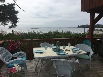 Photo for Incredible pet friendly ocean front cottage looking out at the Broken Islands