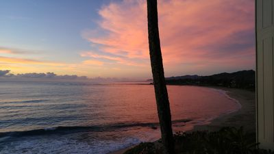 Photo for Oceanfront Kauai Condo, Updated, Romantic Cozy Retreat, Steps to Beach!