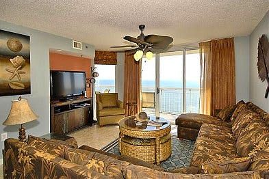 Photo for Crescent Shores 1605, 4 Bedroom Beachfront Condo, Hot Tub and Free Wi-Fi!