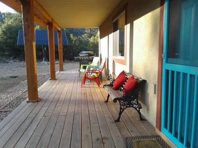 Relax on the large redwood deck!