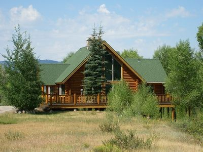 Photo for Moose Meadows - Cozy Western Style Log Cabin w/ Theater Room