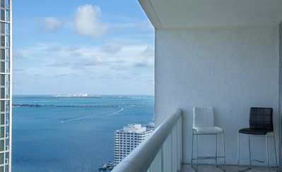 Real View of Biscayne Bay from balcony