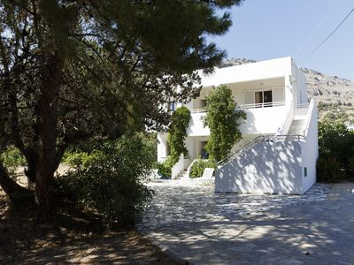 Photo for 2 Bed Apartments In Beautiful Mediterranean Garden Near Central Beach Of Pefkos