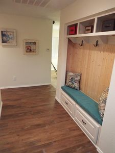 Entryway with bench seating
