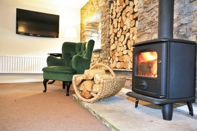 Relax by the woodburner