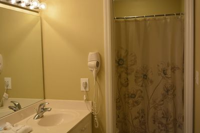 Master bath with  dressing area.