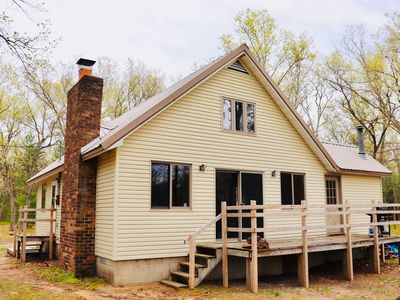 Photo for Beautiful Cabin on 40 wooded acres!