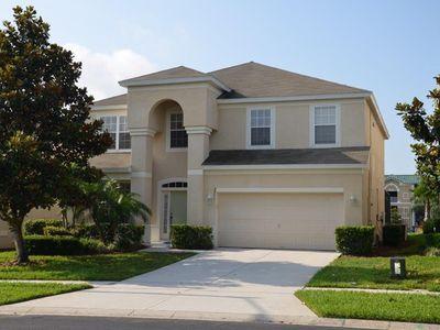 Photo for 6 Bedroom south facing pool home At The Famous Windsor Hills, 6 Minutes Disney
