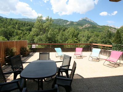 Photo for MAGNIFICENT TERRACE FULL SOUTH WITH VIEW ON THE HEIGHTS FOR THIS CHALET MITOYE