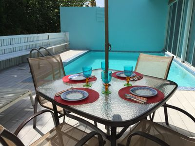 Dining by your pool