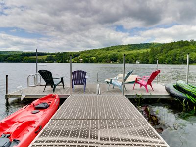 Photo for Secluded lakefront home w/ private pier and beautiful views - close to skiing