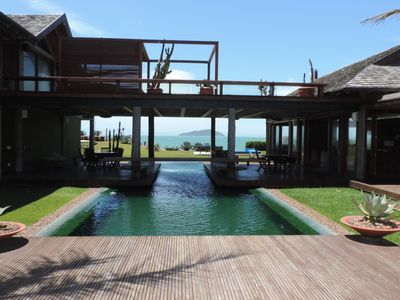 Photo for Buz026 - Luxury beachfront mansion with 5 bedrooms and pool in Búzios