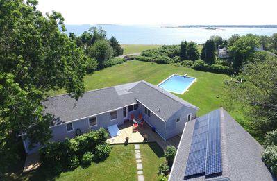 Photo for Beach House, Water View, Saline /Heated Pool, 100ft to Beach